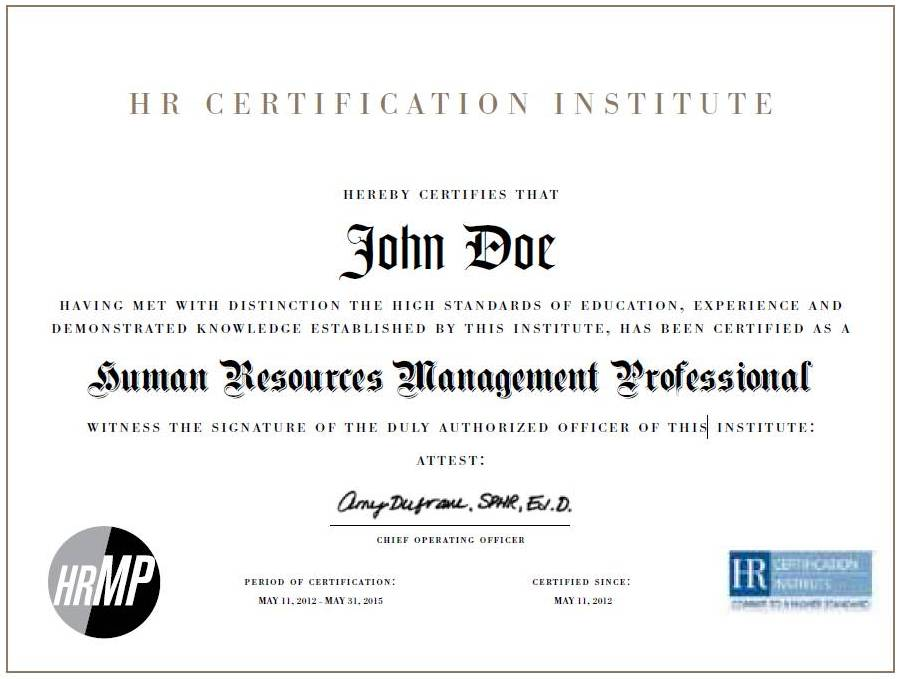 the japan hr society (jhrs) - hr certification